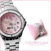 Hello Kitty凱蒂貓原廠公司貨 粉色愛心蝴蝶結手錶 生日禮物腕錶 柒彩年代【NE862】LK622LWPI