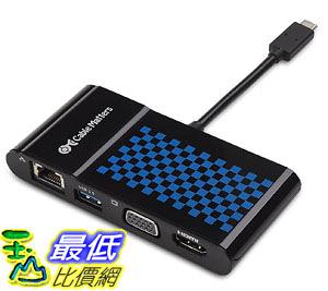 [106美國直購] Cable Matters 201014-blk  USB-C Multiport Adapter with 4K HDMI or VGA Video, USB 3.0
