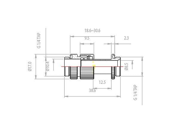 [地瓜球@] Koolance CNT-VDA2 顯示卡水冷頭專用 滑動連接接頭~可滑動1 Slot 距離