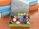 24格彩色有蓋竹炭收納盒 內褲收納盒 襪子收納盒 隨機出貨【SA110】《約翰家庭百貨