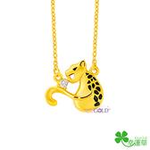 黃金項鍊-錢豹抱-GN176
