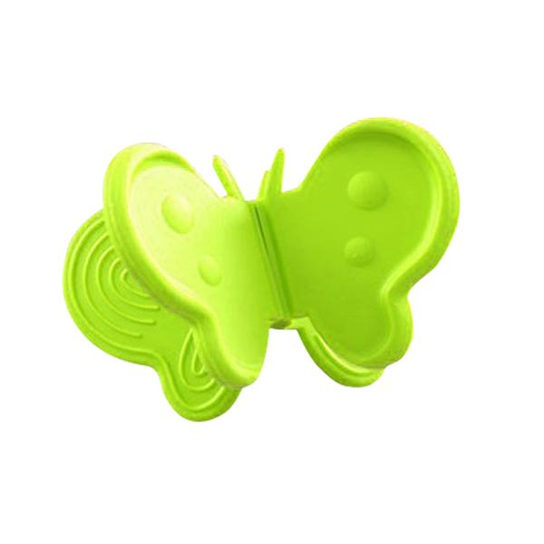 〈限今日-超取288免運〉2入組 創意蝴蝶造型隔熱護套 防燙吸膠取盤夾 護【F0172】