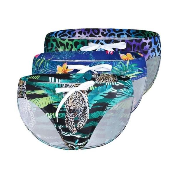 △男泳褲△ 低腰三角泳褲 U凸版型 數位印刷 耐水洗 不易退色 多色可選 ME_902