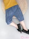 兒童五分褲2020新款夏季薄款中褲男童牛仔短褲寶寶休閒長褲