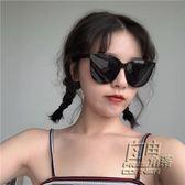 丁走走/網紅明星款白色框時尚墨鏡女潮韓國大框顯臉小偏光太陽鏡 自由角落