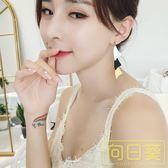 韓國2019春夏新款長款撞色亮氣質個性時尚潮流白色耳飾耳環耳墜女