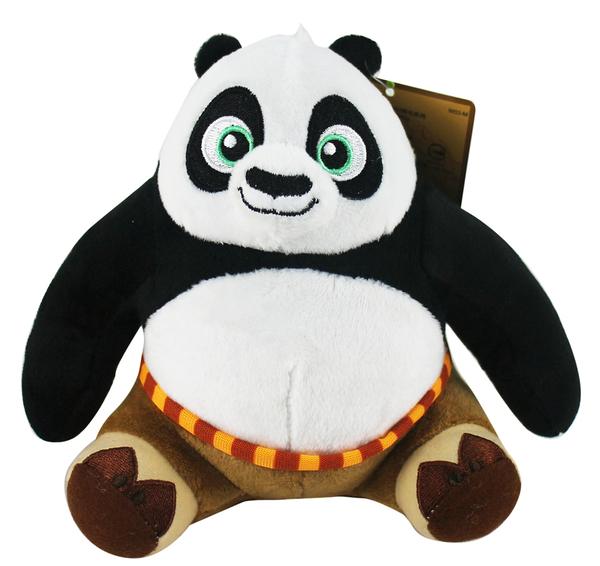 【卡漫城】 功夫 熊貓 玩偶 16CM ㊣版 Panda 絨毛 娃娃 吊飾 布偶 擺飾 附吊繩 阿波 神龍大俠