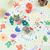 【BlueCat】春田花花盒裝貼紙 (46枚) 手帳貼紙