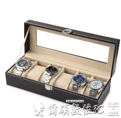 手錶盒開窗皮革首飾箱高檔手錶包裝整理盒擺地攤手鍊盤手錶架LX爾碩數位