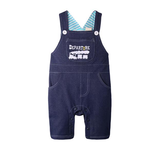 吊帶褲 仿牛仔 男寶寶 女寶寶 休閒 連身衣 爬服 哈衣 Augelute Baby 42061