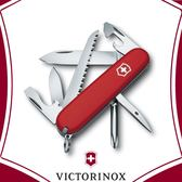 【VICTORINOX 維氏 瑞士 Hiker 9.1cm 瑞士刀《紅》】1.4613/工具鉗/摺疊刀/登山/露營