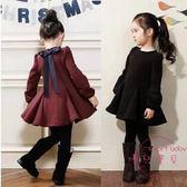 (黑五好物節)新品童裝女童連身裙棉質長袖兒童正韓修身裙子春季寶寶公主裙