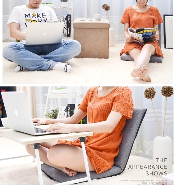 六段可折疊懶人沙發椅 和室椅 榻榻米坐墊 床上靠背椅 折疊靠墊【AE09052】99愛買小舖