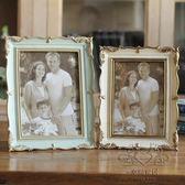 滿元秒殺85折 金屬相框 6寸7寸創意擺台相框美式做舊簡約家居影樓照片框