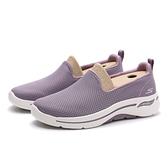 SKECHERS 休閒鞋 GO WALK ARCH FIT 懶人鞋 藕紫網布 白 灰 女 (布魯克林) 124401MVE