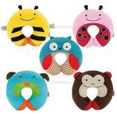 動物系列兒童頸枕汽車座椅 頸枕抱枕枕頭兒童枕日月星媽咪寶貝館