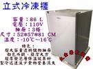 單門冷凍直立式冰櫃/86L冷凍櫃/立式冷...