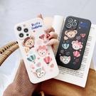 側邊圖案達菲熊 適用 iPhone12Pro 11 Max Mini Xr X Xs 7 8 plus 蘋果手機殼