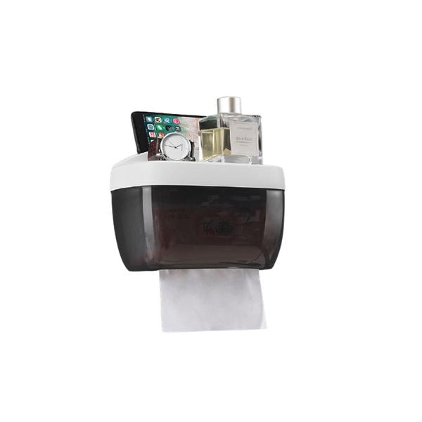 無痕多功能防水面紙盒 衛生紙收納盒 下抽式面紙架 壁掛衛生紙架