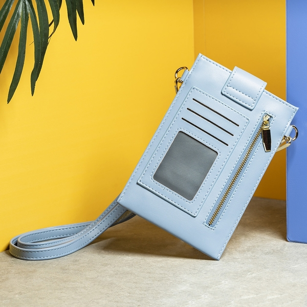 【店長超值推薦6折起】Uniquely多功能斜背手機包-太空藍-生活工場