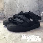 Air Walk 全黑 三槓 魔鬼氈 涼鞋 拖鞋 男女 情侶鞋 (布魯克林) 2018/7月 A755230-320
