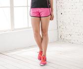 【MJ3】撞色滾邊抽繩運動短褲-女(二色可選) 慢跑 路跑 休閒 運動褲 台灣製