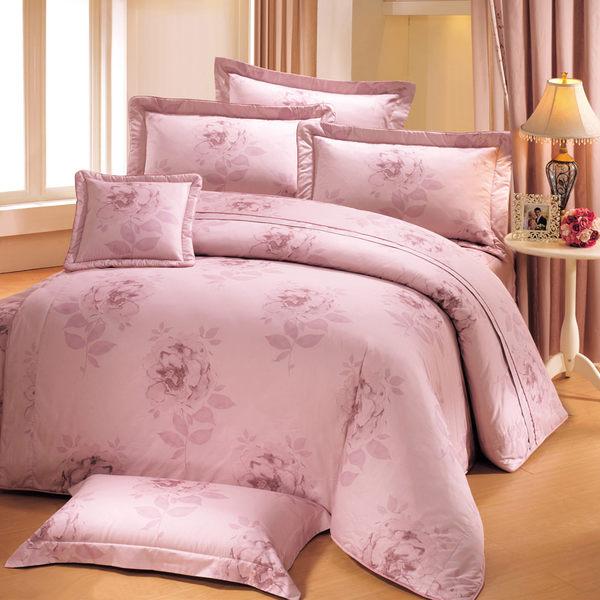台灣製-花香使者 雙人(5x6.2呎)四件式鋪棉涼被床包組-粉色[艾莉絲-貝倫]T4HC-F-133-PK-M