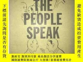 二手書博民逛書店S25罕見The people speak 人民之聲 英文版 館