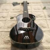 黑色插電亮光尤克里里23男初學者女生電箱烏克麗麗小吉他26寸LX春季新品