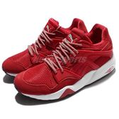 【六折特賣】Puma 休閒慢跑鞋 Blaze 紅 白 麂皮 復古款 休閒鞋 男鞋【PUMP306】 36251004
