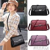 包包女新款韓版斜挎包軟皮小包大容量女士單肩包中年媽媽背包 可然精品