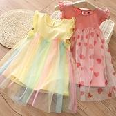 寶寶拼接連身裙 女童洋裝 兒童網紗裙子