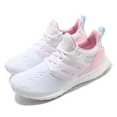 adidas 慢跑鞋 Ultra Boost DNA 白 粉紅 情人節 女鞋 Boost 頂級緩震舒適 運動鞋 【ACS】 GZ2802