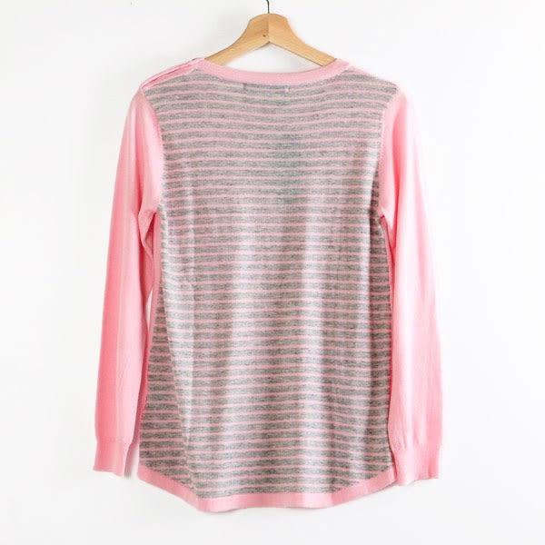 【MASTINA】肩邊縫釦造型針織衫-粉  秋裝限定嚴選