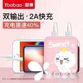 行動電源Yoobao羽博YB-6024 充電寶女迷你便攜大容量可愛小巧沖10000毫安女生超萌卡通手機通用