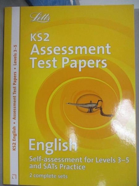 【書寶二手書T2/語言學習_EOG】KS3 National Test Practice Papers-English
