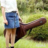 民謠古典吉他包 簡約時尚吉他背包 加厚防水雙肩背琴袋 zh3043 【宅男時代城】