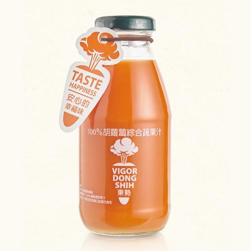 【鮮食優多】活力東勢 100%胡蘿蔔綜合蔬果汁(24瓶/箱)