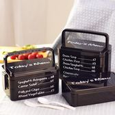 日式便當盒大號手提學生餐盒可愛創意便當盒微波多層塑料飯盒 〖korea時尚記〗