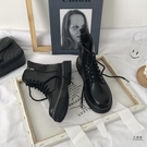 馬丁靴 女潮ins新款英倫風復古平底短靴子春秋單鞋冬季加絨 限時優惠