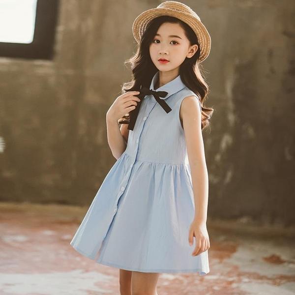 胖女童洋氣裙子新款中大童洋裝12女孩夏裝兒童公主裙15歲焱 伊衫風尚