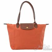 茱麗葉精品【全新現貨】Longchamp Le Pliage 折疊長揹帶肩提包.橘色 #2605