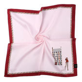 DAKS經典格紋100%純棉帕巾(粉紅色)989108-126