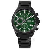 ALBA / VD57-X187G.AM3819X1 / 限定款 三眼計時 紳士英倫 日期 防水100米 不鏽鋼手錶 綠x鍍黑 43mm