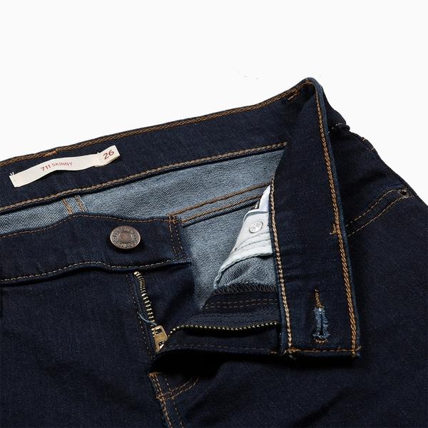 Levis 女款 711中腰緊身窄管牛仔褲 / 原色基本款 / 彈性布料