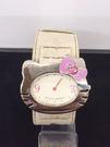 【震撼精品百貨】Hello Kitty 凱蒂貓-手錶-頭形造型錶面-米色錶帶【共1款】