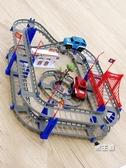 軌道玩具托拖馬斯小火車 電動小火車套裝軌道車電動火車兒童男孩玩具XW 快速出貨