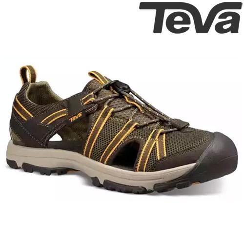 TEVA Kids青少兒童護趾多功能水陸運動鞋MANATEE - 橄欖綠(中小童)