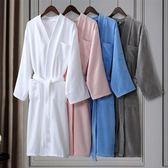 酒店浴袍五星級男女士浴衣純全棉毛巾料浴睡袍春夏吸水 雙十二85折