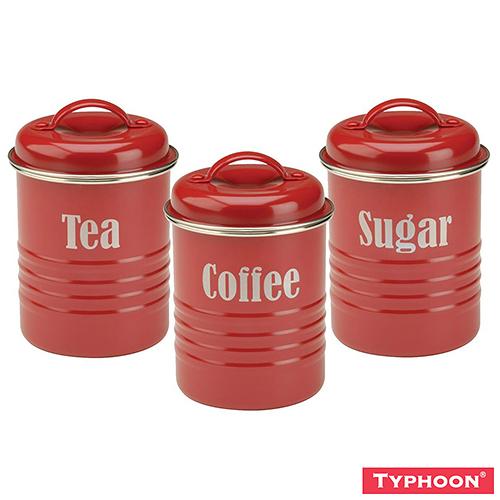 【TYPHOON】復古儲存罐3入組(紅)
